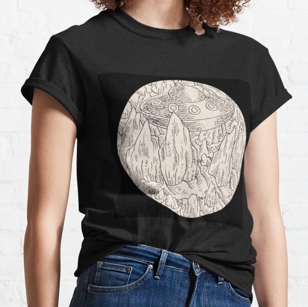 Stones and unknowing flying object (drawing) Classic T-Shirt