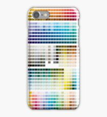 Colour Chart with codes iPhone Case/Skin