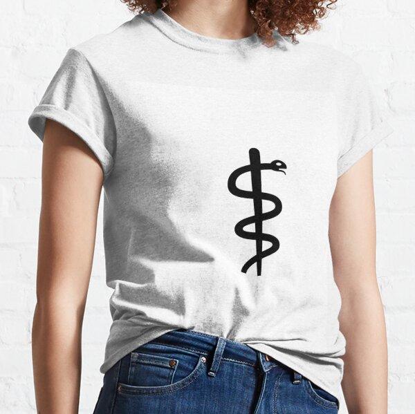 "Unicode Character ""⚕"" (U+2695) Staff of Aesculapius Classic T-Shirt"