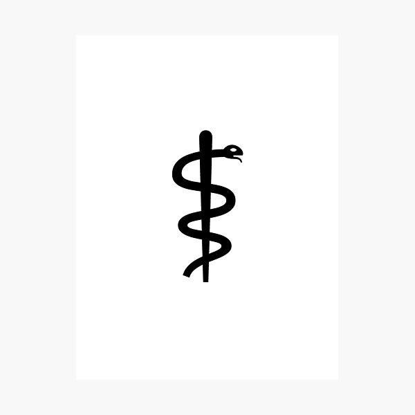 "Unicode Character ""⚕"" (U+2695) Staff of Aesculapius Photographic Print"