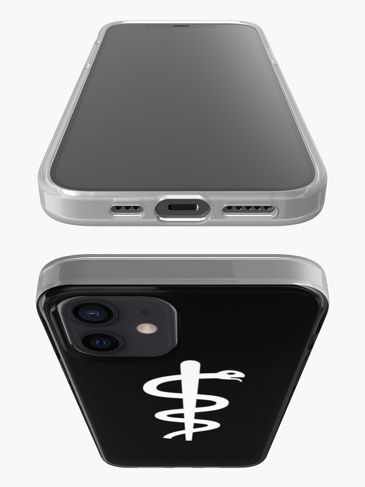 """Alternate view of Unicode Character """"⚕"""" (U+2695) Staff of Aesculapius iPhone Case"""