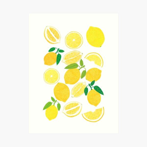 Zitronenernte Kunstdruck