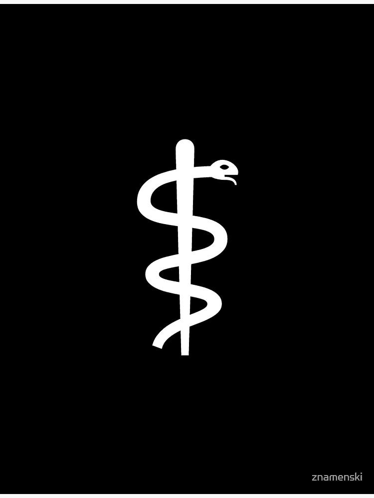 "Unicode Character ""⚕"" (U+2695) Staff of Aesculapius by znamenski"