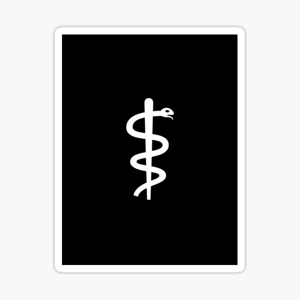 "Unicode Character ""⚕"" (U+2695) Staff of Aesculapius Sticker"