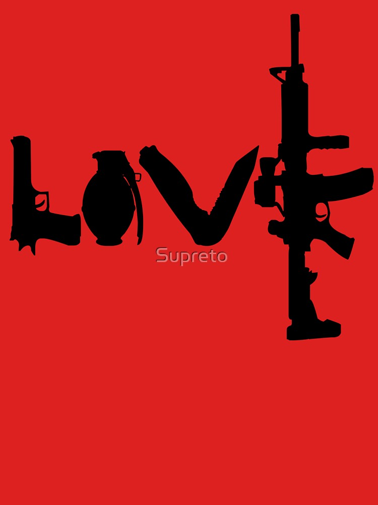 Love weapons - version 1 - black by Supreto