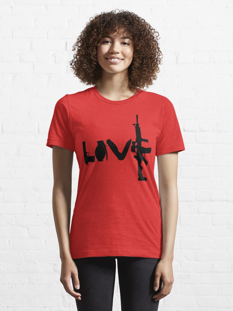 Alternate view of Love weapons - version 1 - black Essential T-Shirt