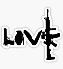 Love weapons - version 1 - black Sticker