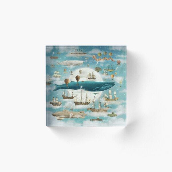 Ocean Meets Sky - Book Acrylic Block