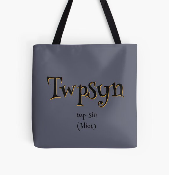 Twpsyn - Grey Theme All Over Print Tote Bag