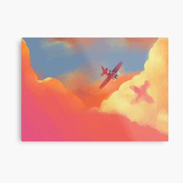 Open Skies Illustration Metal Print
