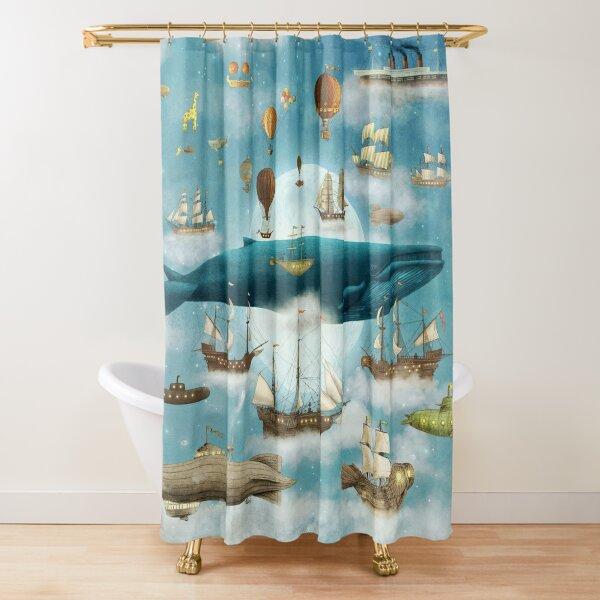 Ocean Meets Sky - Book Shower Curtain