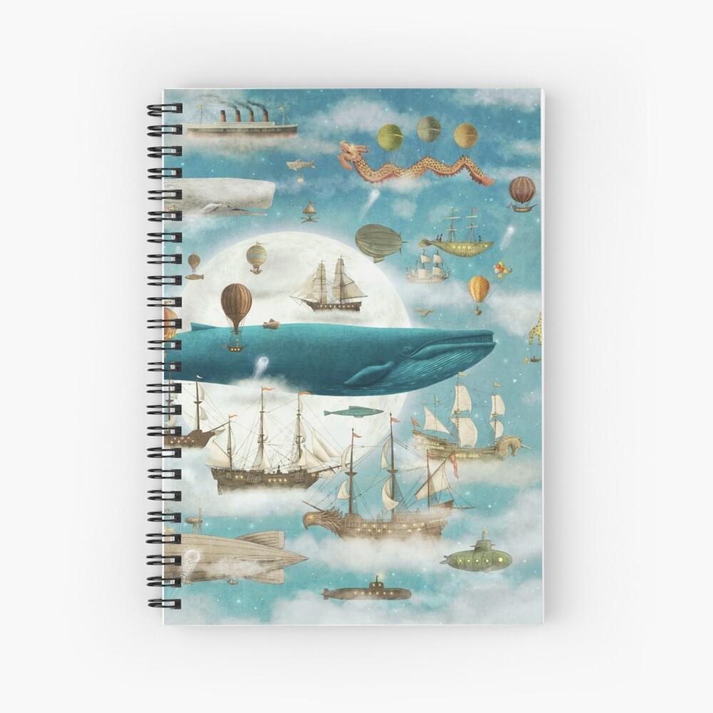 Ocean Meets Sky - Book Spiral Notebook
