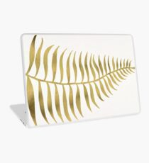 Golden Palm Leaf Laptop Skin