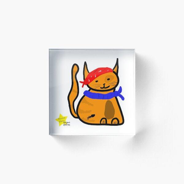 Fat Cat Pirate Acrylic Block