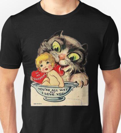 Vintage Valentine Cat T-Shirt
