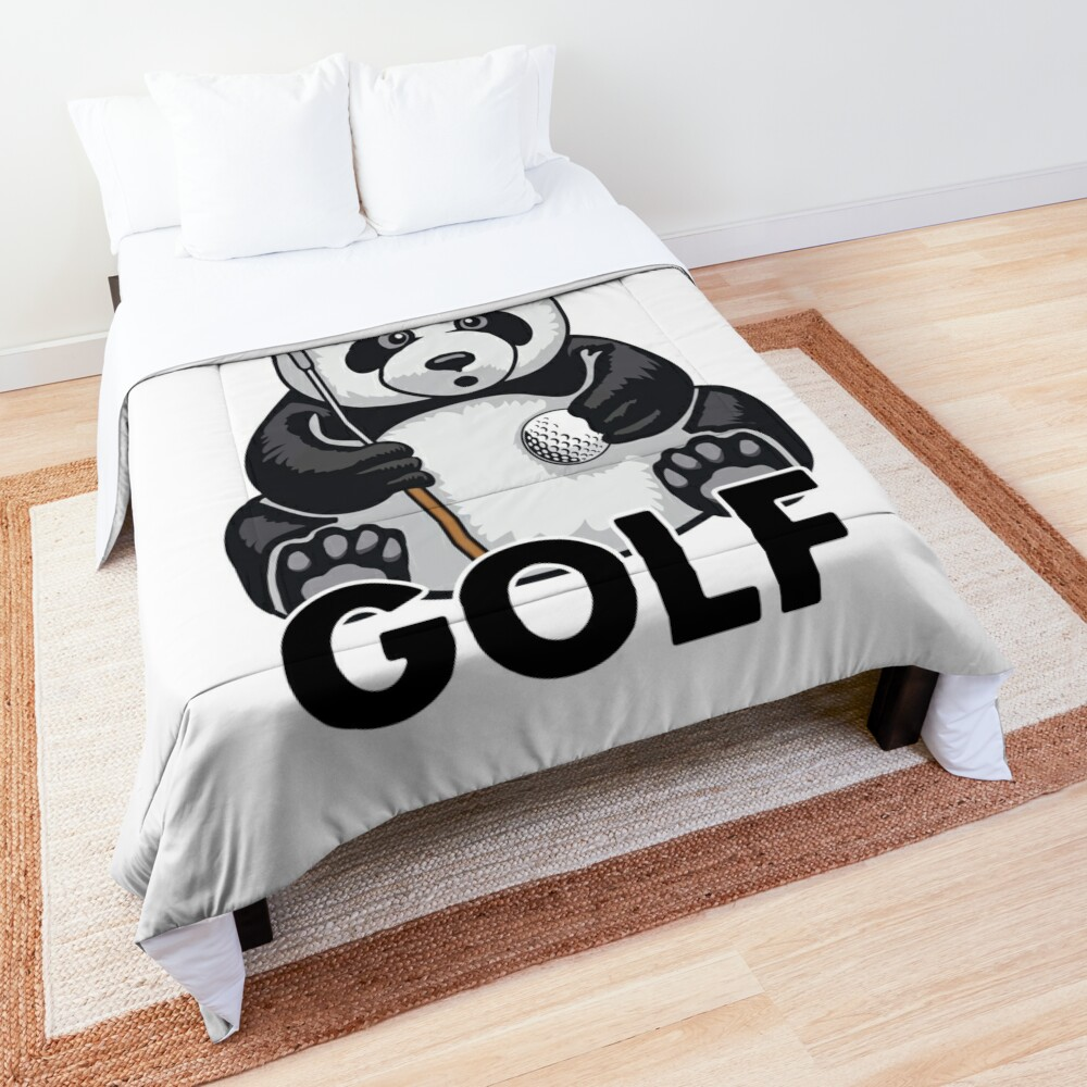 Golf Panda All I Want To Do Is Cute Bear Player Comforter