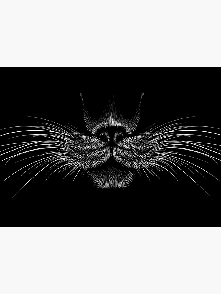 MASK Black Cat Panther Funny Mask Animal Face by PandaPope