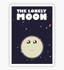 The lonely moon Sticker