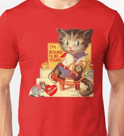 Vintage Valentine Bondage Cat Unisex T-Shirt