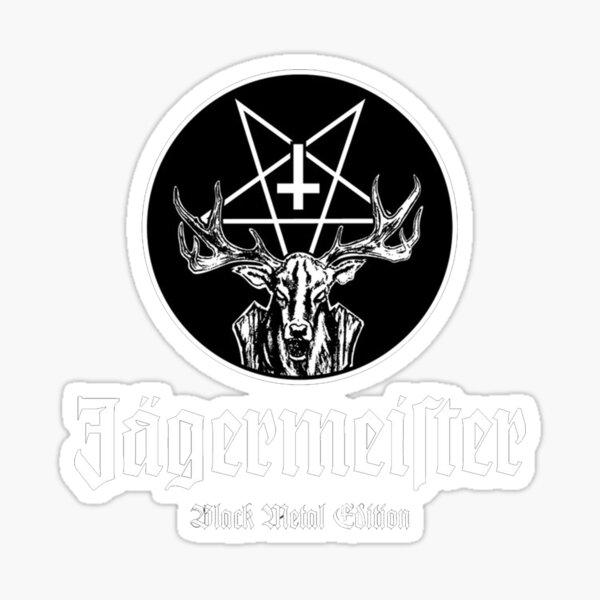 Jager Black Metal Pegatina