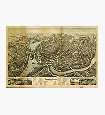 Aerial Map City of Norwich Connecticut (1876) Photographic Print
