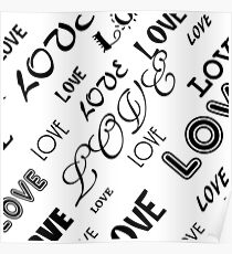 Love bw Poster