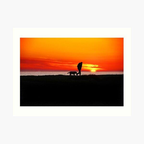 Sunset at Spiddal, Connemara, Ireland Art Print