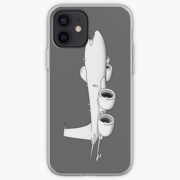 E-6 Mercury TACAMO Military Jet Aircraft Cartoon Illustration iPhone Soft Case