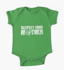 Body de manga corta para bebé Respect your mother earth day