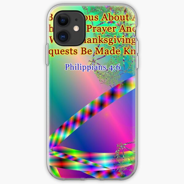 Philippians 4:6 Do Not Be Anxious About Anything iPhone Soft Case