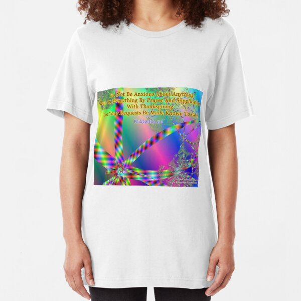 Philippians 4:6 Do Not Be Anxious About Anything Slim Fit T-Shirt