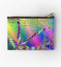 Philippians 4:6 Do Not Be Anxious About Anything Zipper Pouch