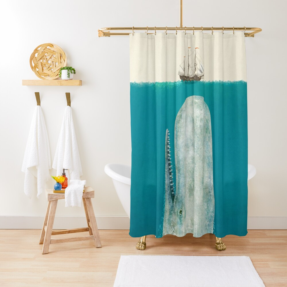 The Whale (Option) Shower Curtain