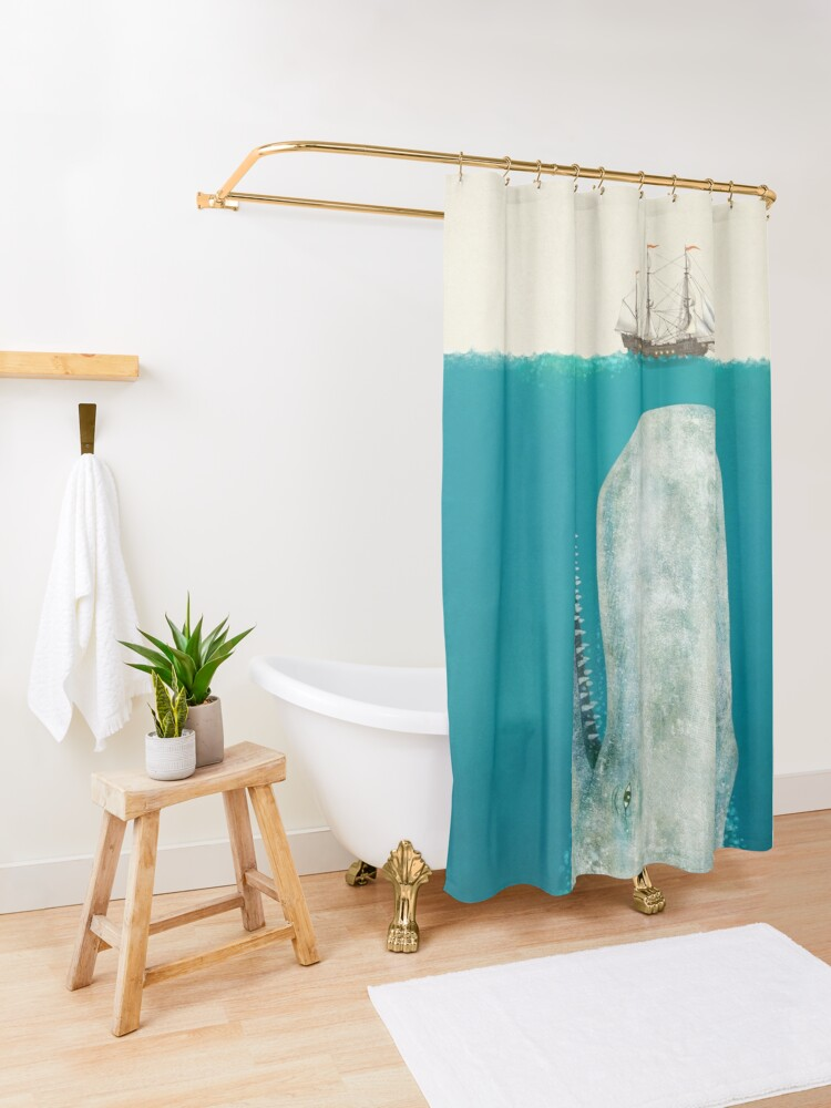 Alternate view of The Whale (Option) Shower Curtain