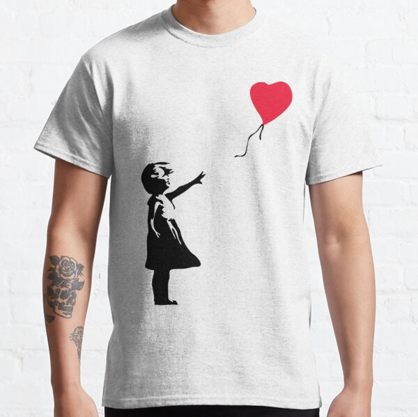"Girl With Red Balloon - Banksy ""self-destructs"" painting Classic T-Shirt"