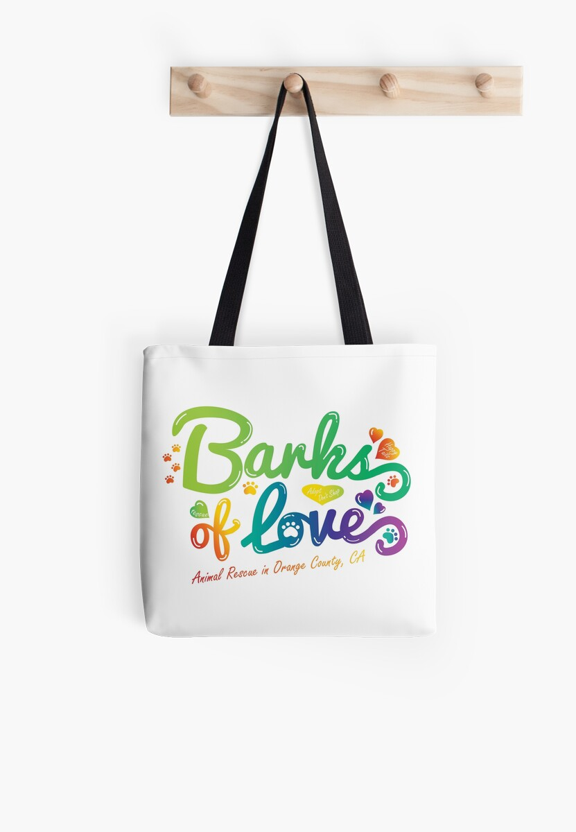 Merchandise - Barks of Love (Colors on White) by Barks of Love Animal Rescue