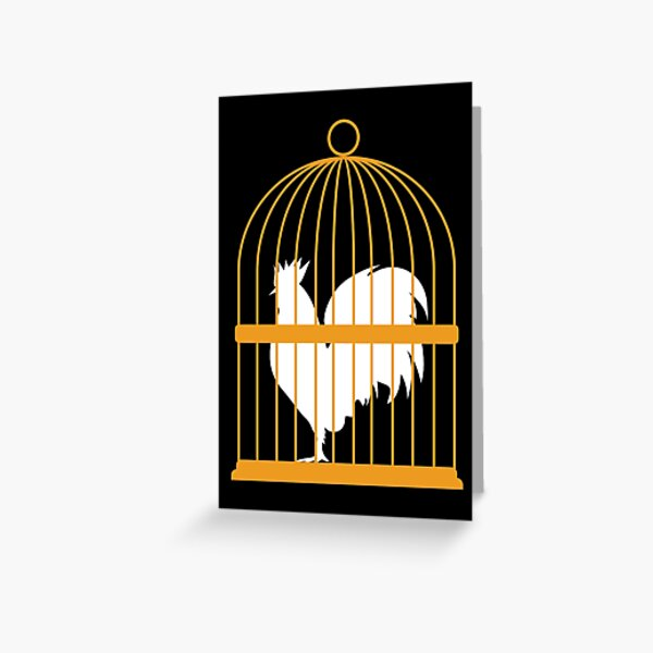 Caged Locked Cock Greeting Card