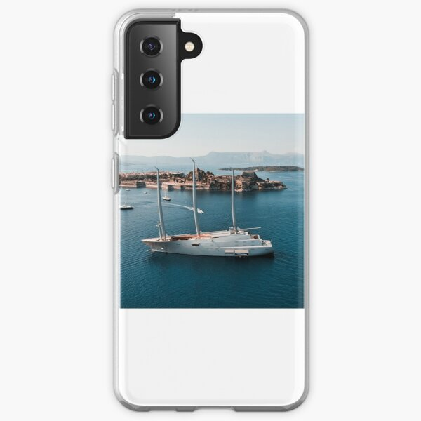Superyacht at old Fortress of Corfu Samsung Galaxy Soft Case