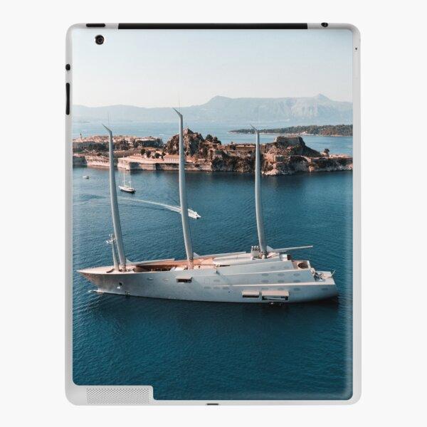 Superyacht at old Fortress of Corfu iPad Skin