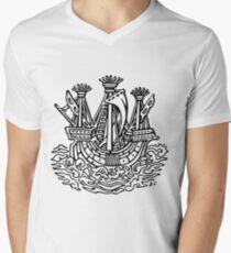 Stylised ship Men's V-Neck T-Shirt