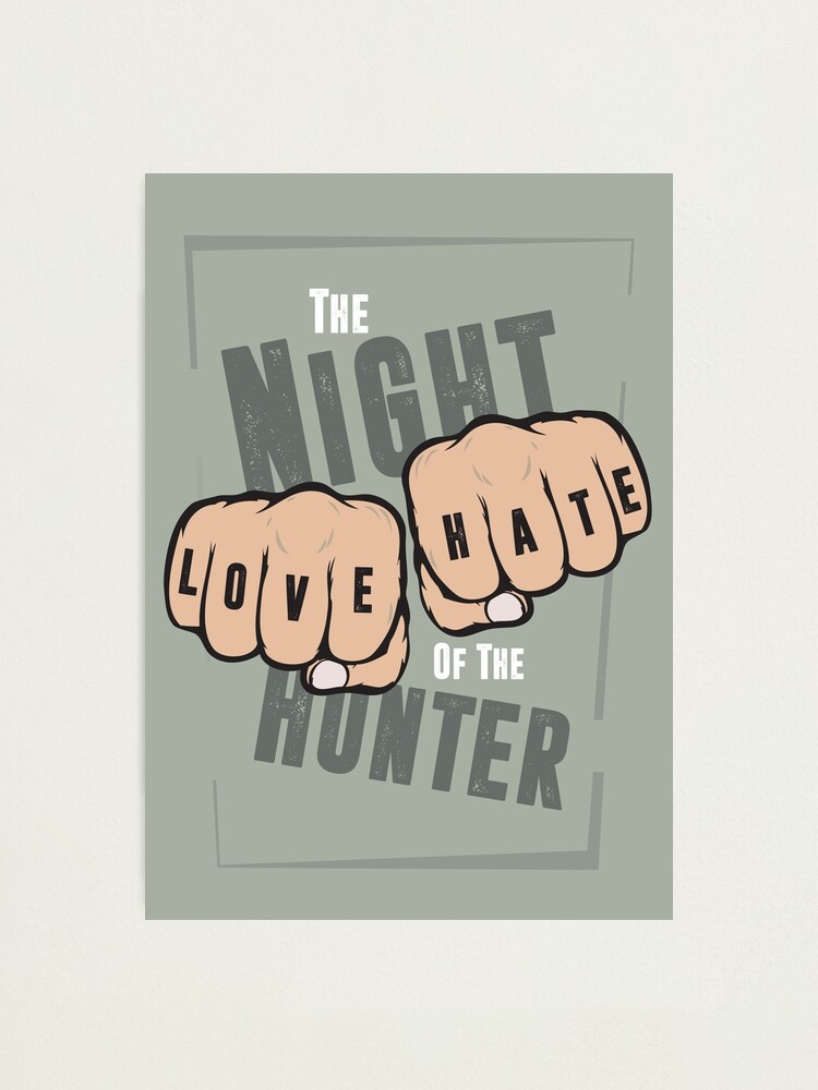 Alternate view of The Night of the Hunter - Alternative Movie Poster Photographic Print