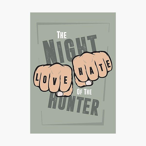 The Night of the Hunter - Alternative Movie Poster Photographic Print