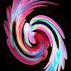 Muted Feather Swirl by Mandy Collins