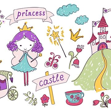 Fairy princess and her castle by Lidiebug