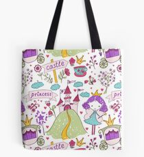 Fairy princess and her castle Tote Bag