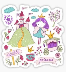 Fairy princess and her castle Sticker