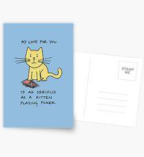 Kitten Loves Poker Postcards