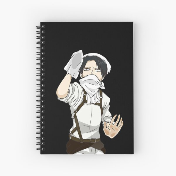 Cleaning Levi - Attack on Titan Spiral Notebook