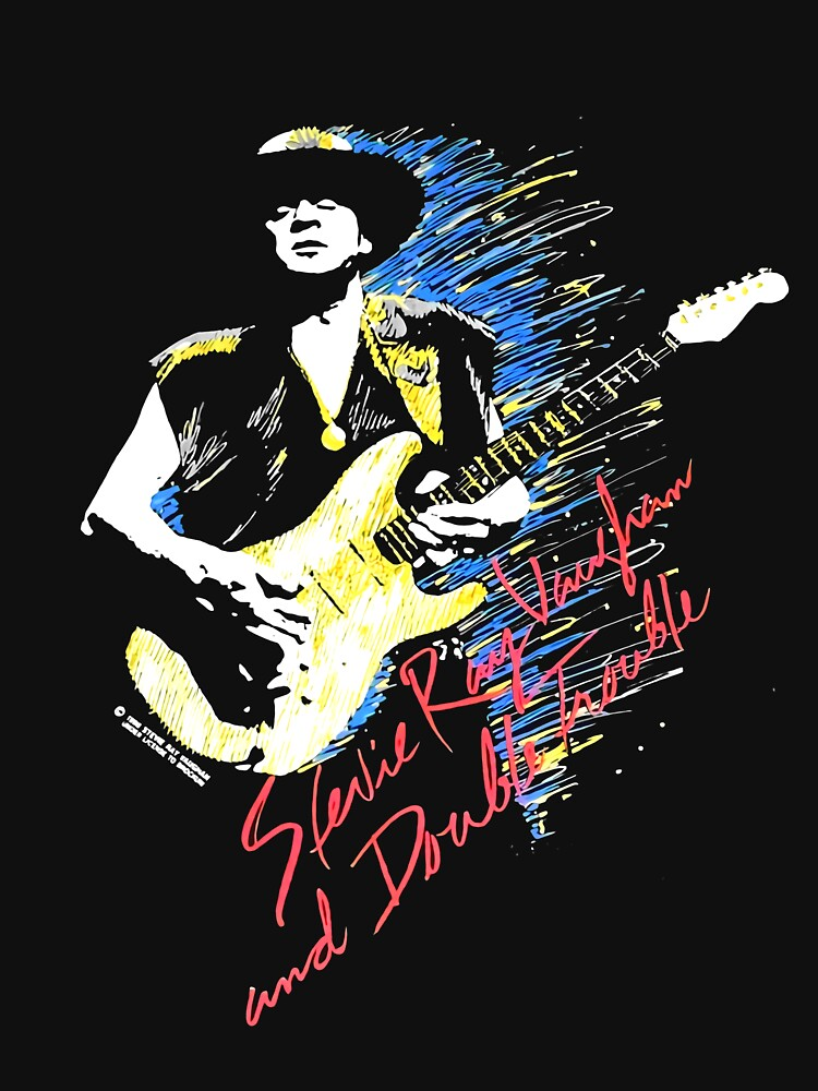 RARE Vintage 90s 1990 90 SRV Stevie Ray Vaughan In Step Final Tour before death double sided by BISAClothes