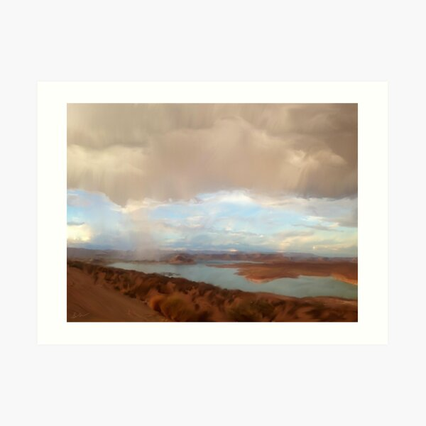 Lake Powell Rainfall Art Print